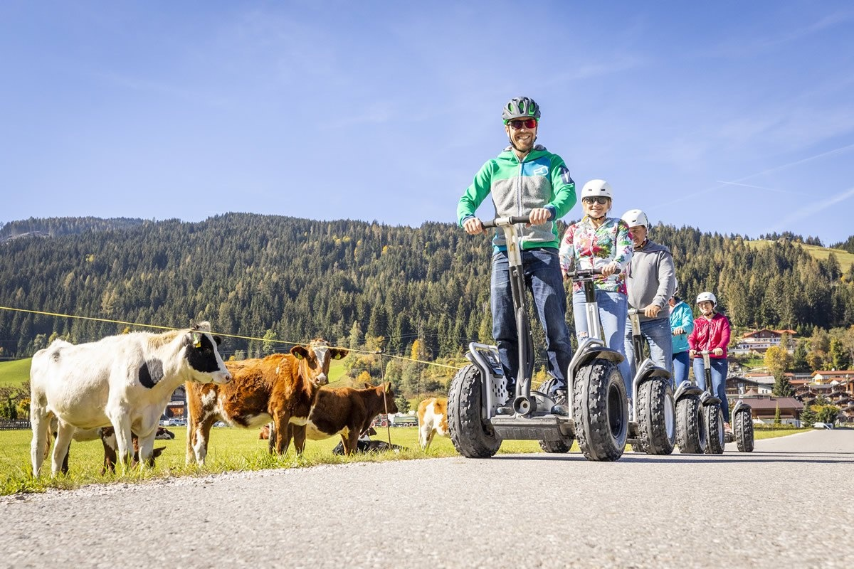 Guided Segway tours for groups in Flachau